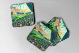 welford road  Coaster set of four